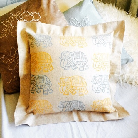 blank canvas cushion cover for printing
