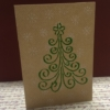 Block Printed Christmas Card