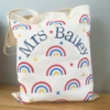 Block Printed Rainbow Tote Bag