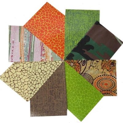 decopatch paper pieces pack- green, brown & orange