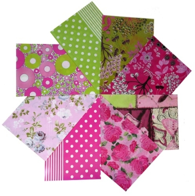 decopatch paper pieces pack- pink & green