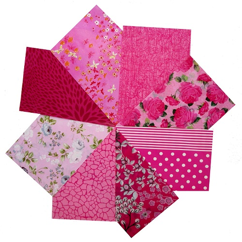 decopatch paper pieces pack- pink papers