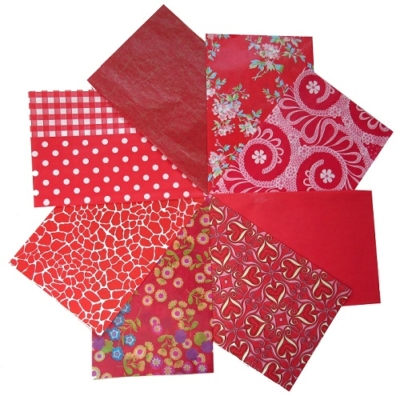 decopatch paper pieces pack- red