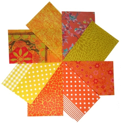 decopatch paper pieces pack- yellow and orange