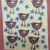 hand printed mini birds