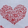 Indian Block Print Detailed Heart