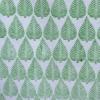 Indian Block Print Leaf Green Design