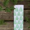 Indian Block Print Tea Towel Leaf