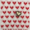Indian Block Printed Fabric- Classic Heart with Dot Border