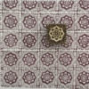 Indian Block Printed Fabric - Small Flower Tile