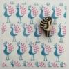 Indian Block Printed Fabric- Small Stylish Bird