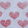 Indian Block Printed Tea Towel Detailed Heart