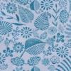 Indian Block Printed Tea Towel Liberty Style Leaf Flower