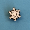 Indian Wooden Printing Block- Detailed Snowflake