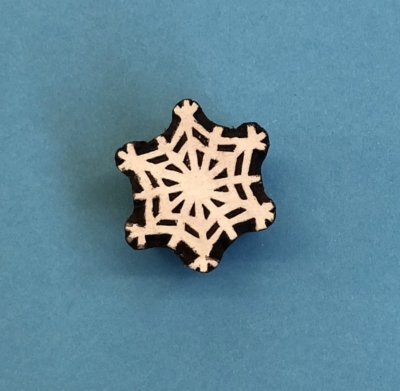 Indian Wooden Printing Block- Detailed Snowflake