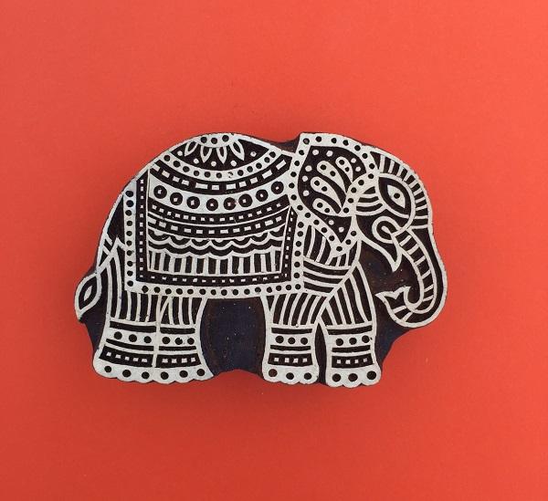 Indian Wooden Printing Block
