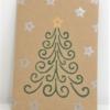 Block Printed Twirly Christmas Tree Card 2