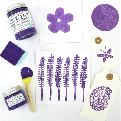 Lavender Block Craft Fabric Paint