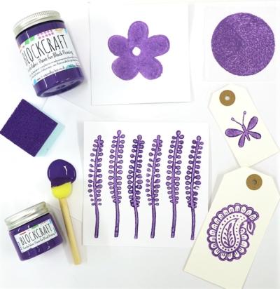Lavender Block Craft Fabric Paint