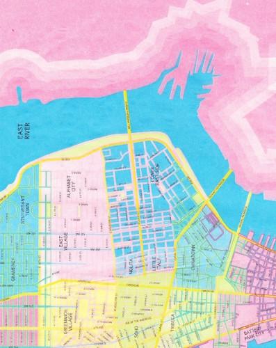 Decoupage Paper- 130 City Map