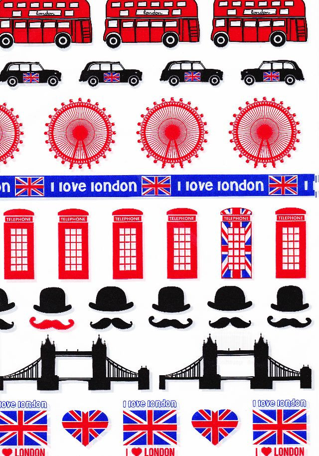 641 Decopatch Sheet I Love London
