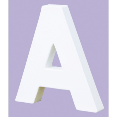 Large White Decopatch Letter A