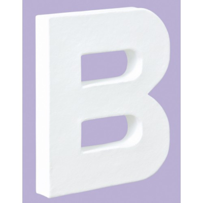 White Decopatch Letter B
