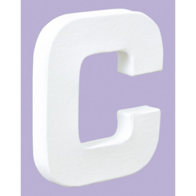 Decopatch white letter c