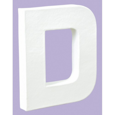 White Decopatch Letter D