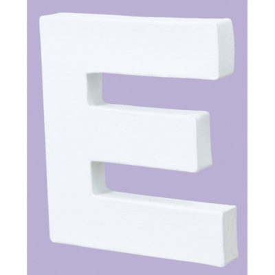 White Decopatch Letter E