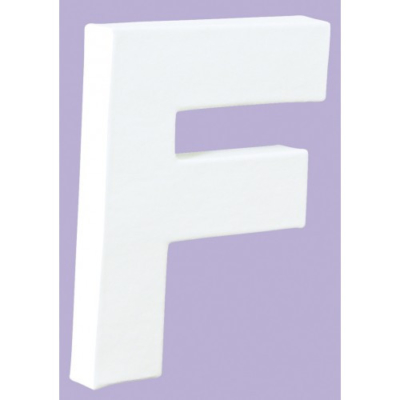 White Decopatch Letter F