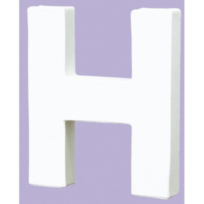 White Decopatch Letter H