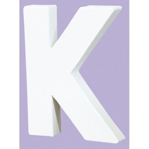 White Decopatch Letter K