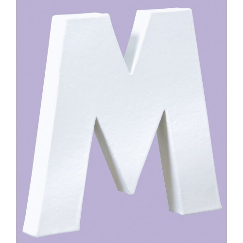White Decopatch Letter M