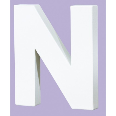 White Decopatch Letter N