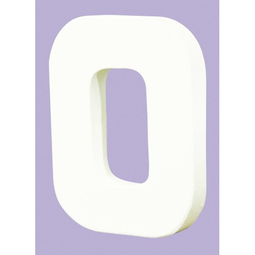 White Decopatch Letter O