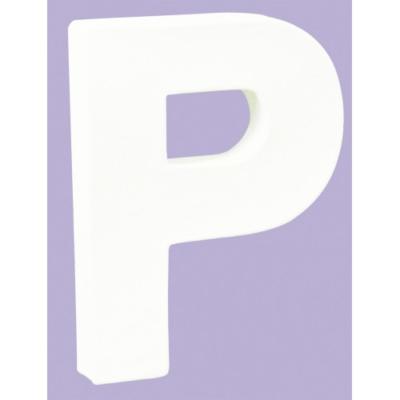 White Decopatch Letter P