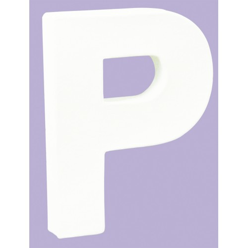White Decopatch Letter P