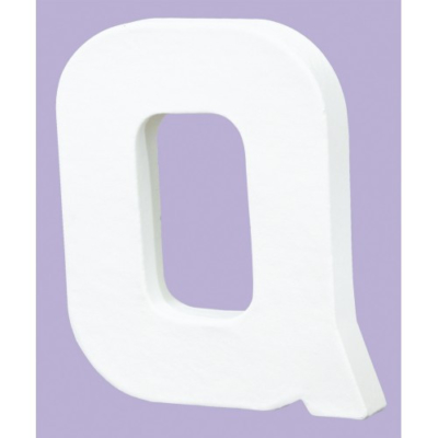 White Decopatch Letter Q