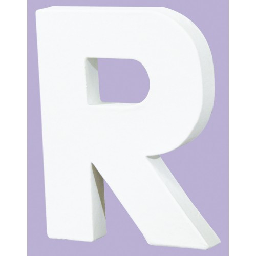 White Decopatch Letter R