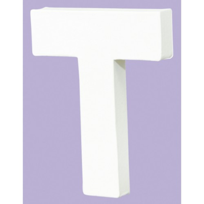 White Decopatch Letter T