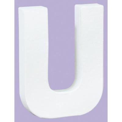White Decopatch Letter U