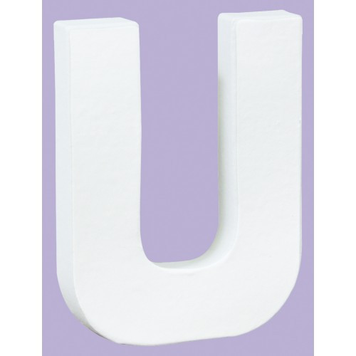 White Decopatch Letter U