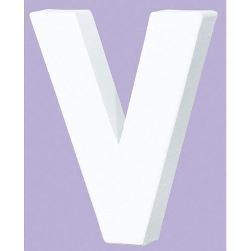 White Decopatch Letter V
