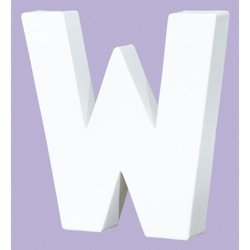 White Decopatch Letter W