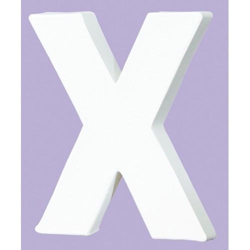 White Decopatch Letter X