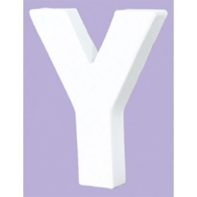 White Decopatch Letter Y
