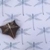 Block Printed Fabric- Dragonfly