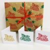 Curly Merry Christmas Block Printed Wrapping Paper & Cards