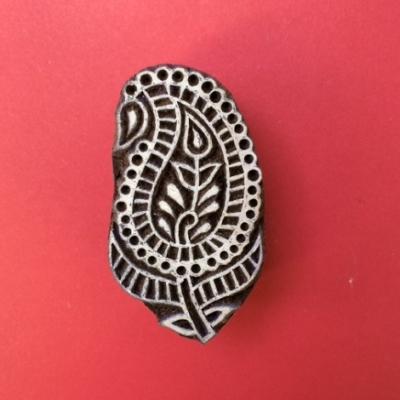 Block craft Indian wooden printing block- Paisley Leaf 1